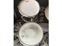 Tama Imperialstar 5 piece with 22 invh bass drums and iron cobra double pedal