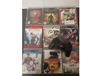 Ps3 games bundle with wireless racing controler
