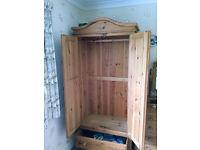 Handbuilt solid pine single wardrobe