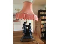 Aristocraft Lamp 'Loving Couple' with accompanying shade