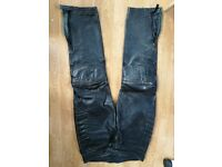 Skintan Leather Trousers (Black)