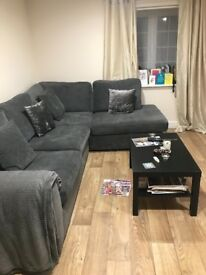 Grey DFS Astaire left hand corner sofa