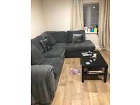 Grey DFS Astaire left hand corner sofa