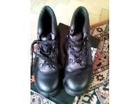 Size 10 steel toe cap black boots