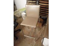nice grey leather Brunner barstools - 11 available