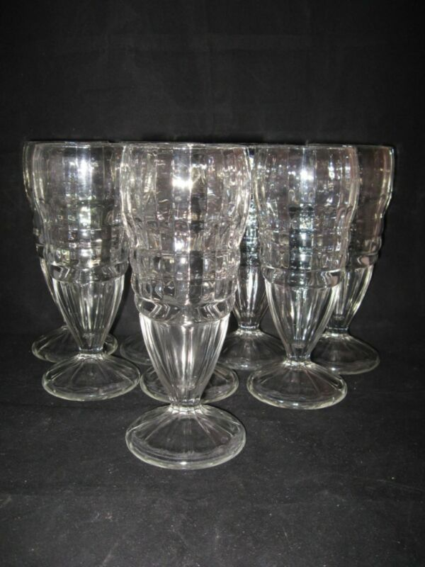 TALL CLEAR GLASS SUNDAE GLASSES - EIGHT