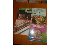 Selection of 6 vinyl record from The Beattles