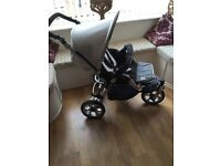 JANÈ Slalom Pro Travel System, Transporter2 Carry Cot, Strata Car Seat and Accessories