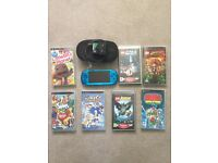 Sony PSP including 7 x games and carry case