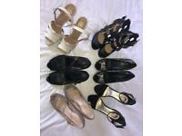 6 pairs of hardly worn size 6 heels