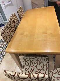 6-8 Chairs Dining Table Solid Wood Good Condition Amazing design