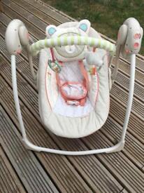 Bright starts baby swing bouncer