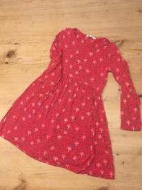 Red print. John Lewis dress. Age 8
