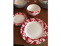Ciroa 'fiori' fine bone china plates & bowls