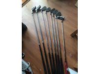 Adams Golf Clubs & Bag - Adams Hybrid P, 9,8,7,6,5,4 + Putter