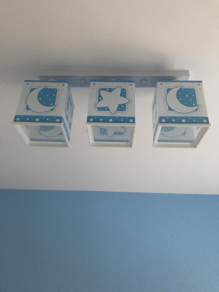 Blue/white light fitting