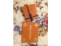 Louis Vuitton packaging box, ribbon, receipt holder, gift note paper, shopping bag limited edition