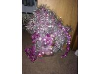 Pink n silver decorations