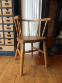 Child wooden oak chair
