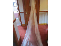 Wedding veil Ivory 12ft cut edge with comb BRAND NEW