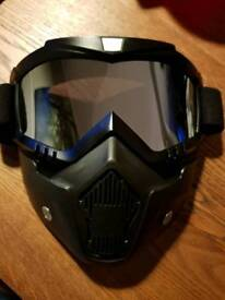 Motocross style Goggles and face mask AS NEW