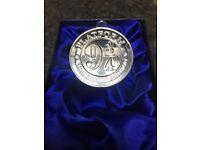 Harry Potter silver .999 plated medal coin Hogwarts Express Platform 9 3/4 Rare