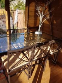 Last chance -Glass Dining Table with Six Chairs ideal for Christmas