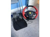Xbox one games and steering wheel