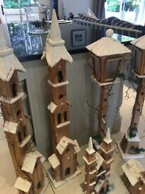 Christmas wooden houses