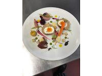 Flexible and reliable chef modern contemporary cuisine using only fresh locally sourced produce
