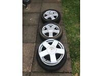 Ford Fiesta alloy wheels and tyres 195/50/15