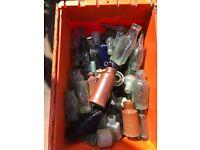 Old glass bottles,