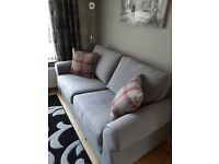 Beautiful Grey fabric 3 seater sofa