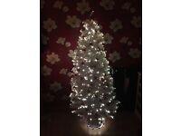 White fibre optic 6ft tree
