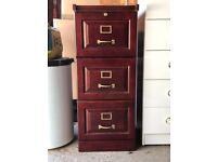 Wooden 3-Drawer Filing Cabinet / FREE