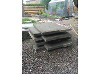 7 concrete paving slabs