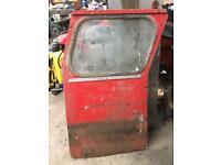 Vintage tractor door