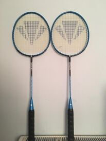 Two badminton rackets at £10,immaculate, more rackets are available, please call for details