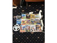Wii bundle 13 games mario sonic Wii sports guitar hero