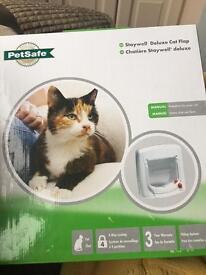 Staywell petsafe cat flap, white NEW