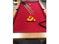 7ft x 4ft pool table complete set with cover