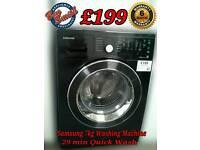 Samsung Washing Machine 7kg Black