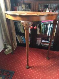 Vintage half moon console table. £30