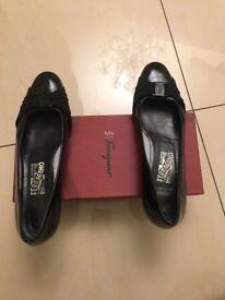 Ferregamo classy black ballet shoes shoes size 40