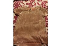 Girls glitzy Nutmeg Top