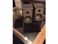 Black MORDAUNT SHORT MS302 Book Shelf Speakers