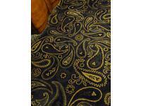 Two lovely Ikea rugs - navy and tan paisley pattern - price is for both