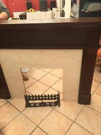 Fire surround, Fire place, Marble Magogany