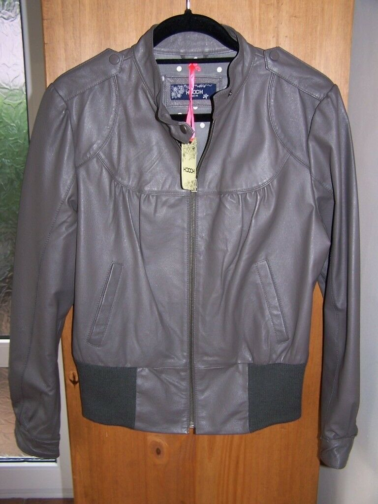 LADIES LEATHER JACKET (HOOCH BRAND) NEW WITH TAGS.