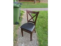 wooden chair with soft cushion seat